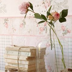 Rose Cottage, Shabby Chic Cottage, Vintage Collage, Estilo Shabby Chic, Stack Of Books, White Shop, Close Image, Pattern Wallpaper, Retro