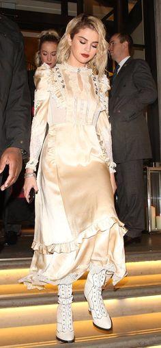 December 4: Selena heading to the Fashion Awards in London
