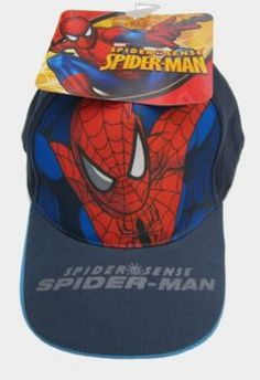 outlet store b1e29 2f78d BOYS AMAZING MARVEL SPIDERMAN SPIDER SENSE BASEBALL CAPS Boys Amazing Marvel  Branded Spiderman