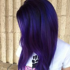 New Deminsions of color by Christel @littledance2 let's call this one Blueberry fade!!! It's yummy enough to eat up!! Love the tones, and vibrancy of this color using #pravana #vivids #bluehair #purplehair prelightened with #platinum #seasonssalon #lorealpro #melt #sombre #hairpainting #hairpaint #balayage #btcpics #behindthechair #modernsalon @utahbeautyblog #Padgram