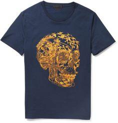 I like it.. Alexander McQueen - Skull-Print Cotton-Jersey T-Shirt | MR PORTER