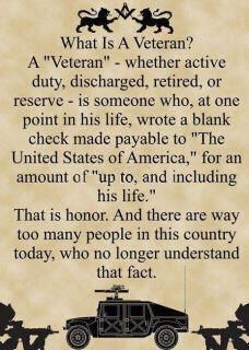 For my friends & my family who have given this most amazing gift to protect our freedom & way of life...and for the innumerable veterans & active duty who have done & are doing the same. No words can express the levity of gratitude in my heart.  ~AML