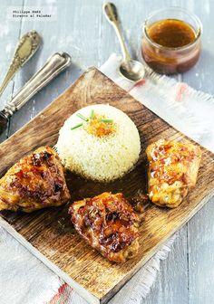 Directo al Paladar - Muslos de pollo en salsa de naranja y soja. Receta