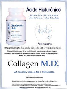 Sin gluten, Ácido Hialurónico Suplemento Dietético Professional - Collagen M.D.® #suplemento #CollagenMD #ÁcidoHialurónicoSuplemento #SuplementoDietéticoProfessional #ÁcidoHialurónico #SinGluten