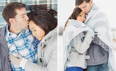 15 Ideas for Oh-So-Cozy Winter Engagement Photos via Brit + Co.