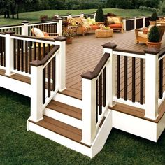TRENDING: White Trim  Adding white trim to your deck creates sleek, clean lines to add to your multipurpose outdoor living space.