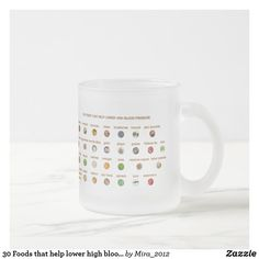 30 Foods that help lower high blood pressure Frosted Glass Coffee Mug Natural Blood Pressure, Healthy Blood Pressure, Lower Blood Pressure, Birthday Gifts For Grandma, Best Birthday Gifts, Bowel Cleanse, Personalized Chocolate, Glass Coffee Mugs, Get Well Gifts