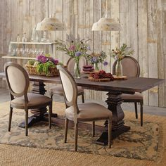 a saltbox: world market greyson table, overstock chairs