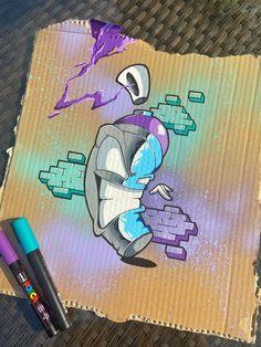 Graffiti Canvas Art, Graffiti Piece, Graffiti Styles, Doodle Characters, Graffiti Characters, Graffiti Writing, Graffiti Alphabet, Graffiti Wildstyle, Graffiti Cartoons