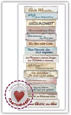 Wall decoration - decorative sign - good wishes - that come from the heart - a designer piece . - Wall decoration – decorative sign – good wishes – that come from the heart – a unique produ - Wooden Keychain, Make Your Own, Make It Yourself, Christmas Gifts For Mom, Decorative Signs, Woodworking Shop, Wands, Wall Murals, Picture Frames