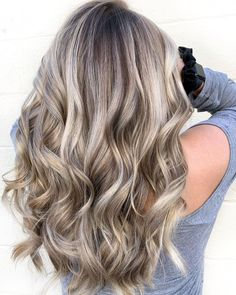 Silver Highlights and Light Brown Lowlights Brown With Blonde Highlights, Blonde Balayage Highlights, Red Blonde Hair, Brown Hair With Blonde Highlights, Blonde Hair Looks, Silver Blonde, Bright Blonde, Color Highlights, Icy Blonde