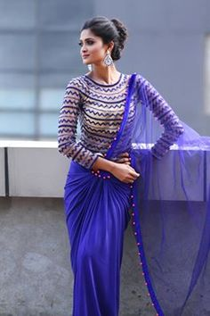 Creative #Saree Drape with full Blouse