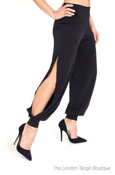 Elegant Tango Clothes Handmade in Italy with Italian fabrics! Tango dresses for Milonga, Tango Class and Performances. Dance Outfits, Dance Dresses, Salsa Outfit, Trousers Women, Pants For Women, Tango Dress, Argentine Tango, Ballroom Dress, Easy Wear