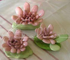Deniz taşından yaptığım çiçekler Baharca tasarım handmade
