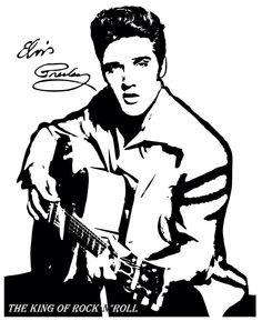 Elvis Presley Drawing Silhouette Black and white Clip art - ELVIS Elvis Tattoo, Stencil Art, Stencils, Dibujos Pin Up, Black And White Art Drawing, Pop Art, Elvis Presley Pictures, Rock Poster, Silhouette Art