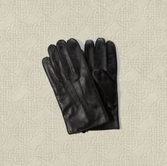 New Abercrombie & Fitch Men's Leather Ribbed Gloves Size XL