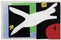 Henri Matisse (French, 1869–1954) Title: La nageuse dans l'aquarium (from Jazz), 1947 Medium: color pochoir Edition: ed.100 Size: 42.23 x 61.6 cm. http://www.artnet.com/artists/henri-matisse/la-nageuse-dans-laquarium-from-jazz-52p9nXE-48LoJt6cJpkNew2