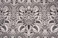 497Kaufmann Modern Drama Printed Poly Outdoor Fabric in Black $9.95 per yard