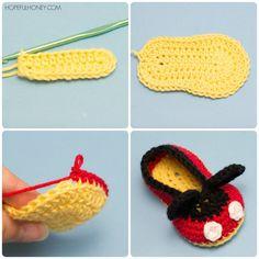 Mickey Mouse Inspirado Patrón bebé botines del ganchillo