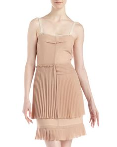 Plisse Chiffon Dress, Powder Pink by See by Chloe at Neiman Marcus Last Call.115