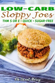 Low Carb Sloppy Joe Recipe, Sloppy Joes Recipe, Sloppy Joe Recipe Tomato Sauce, Sloppy Joe Recipe No Ketchup, Trim Healthy Recipes, Low Carb Recipes, Beef Recipes, Trim Healthy Mamas