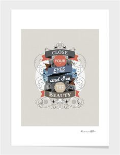 """Curioos.com   """"The Beauty"""" by Kavan & Co  - Gallery Quality Art Print from 15€ ($19)"""