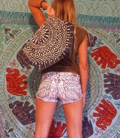 Hey, I found this really awesome Etsy listing at https://www.etsy.com/listing/192326376/new-mandala-hand-bleached-upcycled-denim