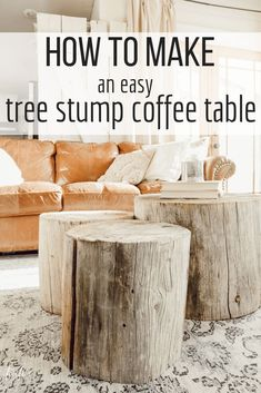 How to Make A Tree Stump Coffee Table Want a unique and stylish coffee table that nobody else has? Learn how to make your own tree stump coffee table and wow everyone that comes into your home. Its unique, rustic, versatile decor that everyone will envy Coffee Table Design, Stylish Coffee Table, Rustic Coffee Tables, Diy Coffee Table, Diy Table, Tree Stump Coffee Table, Tree Trunk Table, Log Furniture, Farmhouse Furniture