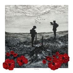 'The Last Post' - POSH Original Art by Jacqueline Hurley War Poppy Collection Remembrance Day Painting