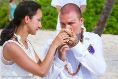 Heiraten in Mexiko. Maya Zeremonie am Strand der Riviera Maya