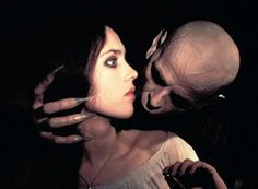 """Klaus Kinsky and Isabelle Adjani in """"Nosferatu the Vampyre"""", directed by Werner Herzog, (Original title: """"Nosferatu: Phantom der Nacht"""" (Nosferatu: Phantom of the Night)) Best Horror Movies, Horror Films, Good Movies, Isabelle Adjani, Vampires, Nosferatu The Vampyre, Tv Movie, Maleficarum, Werner Herzog"""