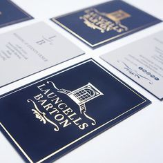 Oh navy & gold, I do love you!  The fabulous Lara and Matt launched their gorgeous new Cornish wedding & events venue, Launcells Barton, this weekend - I'm SO excited for their open day in January.  Only the most gorgeous business cards would do so we opted for a gold foil finish to one side, it's so scrummy!  In the meantime, pop over and browse their pretty new website > launcellsbarton.co.uk  #launcellsbarton #bude #cornwall #weddings #weddingvenue #beckylord #beckylorddesign…
