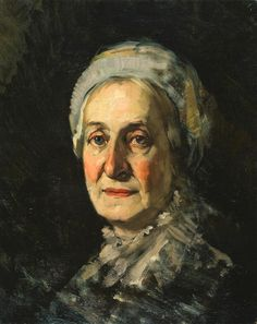 Frank Duveneck, 1848 - 1919, Old Lady with Cap, 1875, oil on canvas, 20 x 16 1/8 (50.8 x 41 cm) Fine Arts Museums of San Francisco
