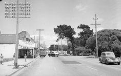 1953 Dromana Township Nepean Highway Melbourne Victoria, Victoria Australia, Australia Photos, Melbourne Australia, Melbourne Suburbs, Local History, Tasmania, Back In The Day, Historical Photos