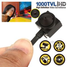 Details about HD Mini Hidden Audio Pinhole Camcorder Video Recorder Spy Camera in 2019 Home Security Camera Systems, Cctv Security Cameras, Security Surveillance, Security Alarm, Security Cameras For Home, Surveillance Equipment, Spy Gadgets, Technology Gadgets, Camcorder