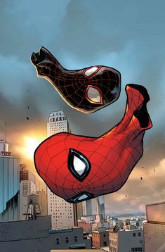 Peter PARKER (SPIDER-MAN) and Miles MORALES (SPIDER-MAN) | Earth 616 and 1610 | PORTFOLIO: Spider-Verse