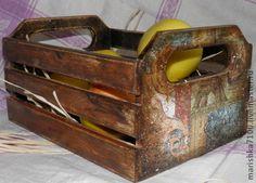 Просто ящик - коричневый,Декупаж,декупаж работы,ящик,короб для хранения
