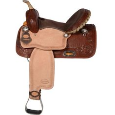 COUNRY LEGEND ARLIN BARREL SADDLE #barrelracing #western  www.westernrawhide.com Barrel Racing Saddles, Barrel Saddle, Square Skirt, Studded Leather, Horse Tack, Horseback Riding, Brown Suede, Cowboy Hats, Westerns