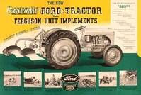 This is the exact tractor we just bought!  Sweet!  ArteHouse Signs - New Lightweight Ford Tractor & Ferguson Unit Imple : Posters and Framed Art Prints Available