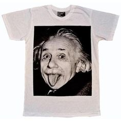 """Albert Einstein """"Crazy Professor"""" Vintage Print T-Shirt ❤ liked on Polyvore featuring tops, t-shirts, shirts, tees, tee-shirt, print t shirts, vintage shirt, pattern shirt and vintage tee-shirt"""