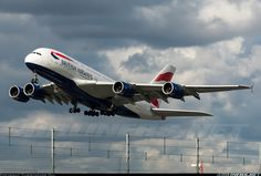 BA A380 at Heathrow Airbus A380, Vintage Air, British Airways, Aircraft Pictures, Air Travel, Airplanes, Aviation, Commercial, Girly