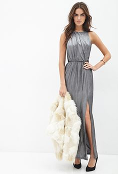 Metallic Knit Maxi Dress | FOREVER21 - 2000136919