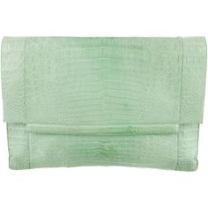 Pre-owned Nancy Gonzalez Crocodile Clutch (€495) ❤ liked on Polyvore featuring bags, handbags, clutches, green, green handbags, handbags & purses, crocodile handbag, green croc handbag и pre owned handbags