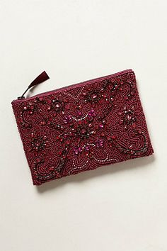 Jeweled Arcadia Pouch #anthropologie - I seem to be obsessed with these pretty little pouches. Oh well.