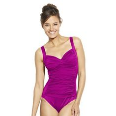 Croft & Barrow® Fit For You Tummy Slimmer One-Piece Swimsuit - Women's