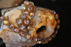 Mid Century ,Beautiful, Glowing AB Crystal Choker and Cluster Earrings. by FrancieLouiseJelly on Etsy