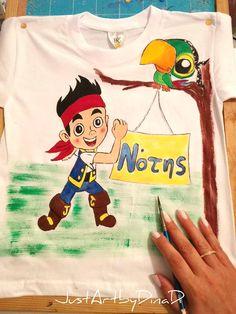 Μπλούζα παιδική ζωγραφισμένη,Captain Jake - e-paidotopos.gr Shopping