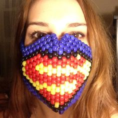 Accessories - Superman / Supergirl kandi mask