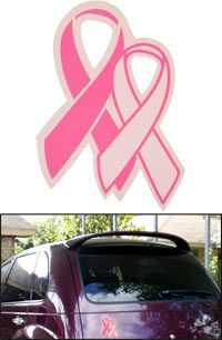 Pink Ribbon Glitter Car Magnet at The Breast Cancer Site (Think I might buy this for my car, Ribbon For my Mom and for my grandma)