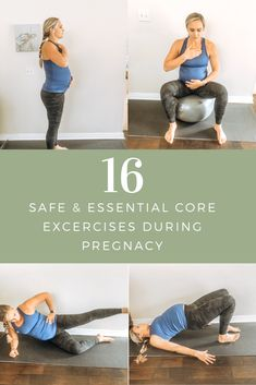 Pregnancy Abs, Exercise During Pregnancy, Pregnancy Health, Pregnancy Fitness, Ab Exercises For Pregnancy, Birth Ball Exercises, Pelvic Floor Exercises, Abdominal Exercises, Core Exercises